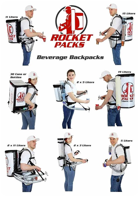 rocketpacks sac a dos café distributeur